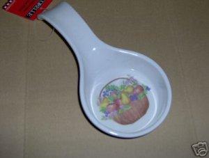 Corelle Chutney Spoon Rest Melamine NEW Basket
