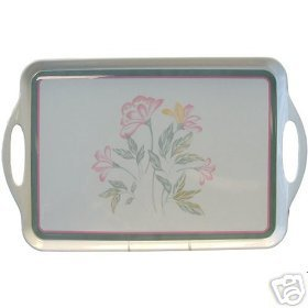 Corelle Pink Trio Serving Tray NEW Melamine Rectang.