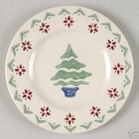 "Pfaltzgraff Nordic Christmas Salad Plate 8"" NEW Pottery"