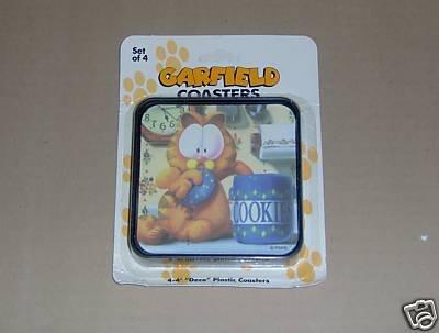 Garfield the Cat Coasters Cookie Jar Set of 4 NEW
