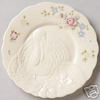 Pfaltzgraff Tea Rose Turkey Buffet Plates NEW Stoneware