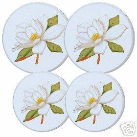 Magnolia Flower Stovetop Burner Cover Set of 4 NEW