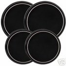 Black w/White Stripe Stovetop Burner Cover Set of 4 NEW