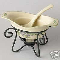 Pfaltzgraff Garden Party Gravy Server w/Ladle NEW