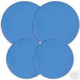 Azure Blue Stovetop Burner Cover Set of 4 NEW