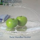 "International Silver Twist Handled Basket 12"" x 9 1/2"""
