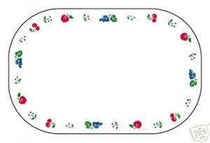 Corelle Berries & Cherries Placemats 6 NEW Reversible