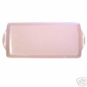 "Retro Pink Handled Tidbit Tray NEW Melamine 15"" X 6.5"""