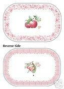 Pfaltzgraff Delicious Reversible Placemats Set of 4 NEW