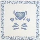 Corelle Blue Hearts Stovetop Burner Covers Gas NEW 4