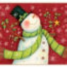 Deck the Halls Snowman Glass Cutting Board Trivet NEW