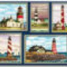Lighthouse Collage Cutting Board NEW Temp. Glass 12x15