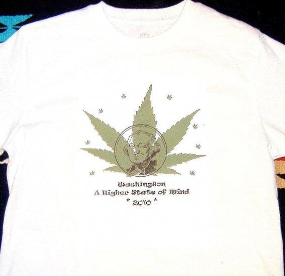 Marijuana Tshirt I-1068 Washington Legalization T-shirt L