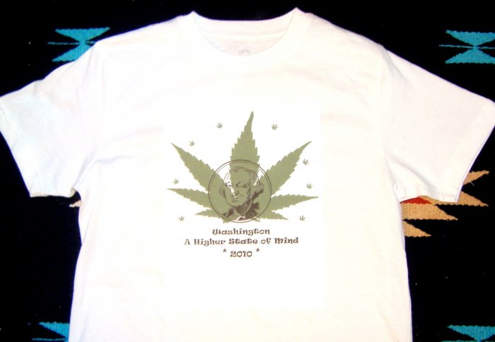 Marijuana T-Shirt I-1068 Washington Legalization T Shirt XL
