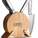 Ginsu Kotta Series 5 Piece Prep Knife Set With Round Storage Block - Natural