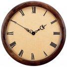 "Edward Meyer™ 23-3/8"" Extra Large Executive Clock with Genuine Wood Frame and Quartz Movement"