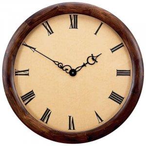 "Edward Meyer� 23-3/8"" Extra Large Executive Clock with Genuine Wood Frame and Quartz Movement"