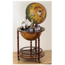"Kassel� 17"" World Globe Replica of Italian Bar Circa"