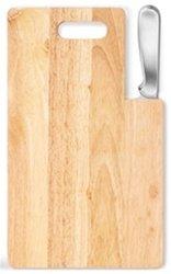 "Ginsu Kotta Series 7"" Stainless Steel Santoku Knife with Cutting Board"