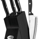 Ginsu Essentials Series 5 Piece Prep Knife Set - BLACK