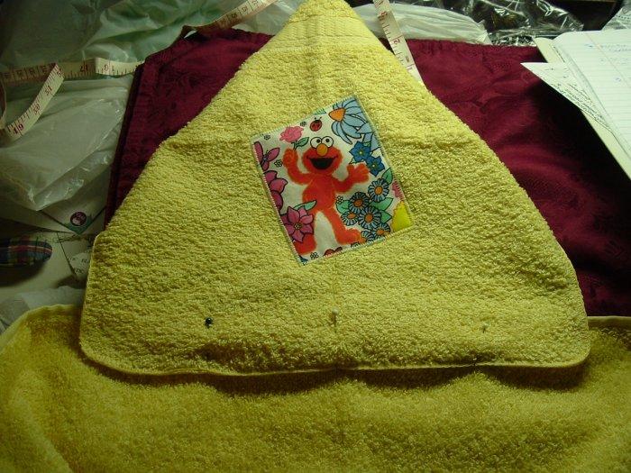 Instruction sheet for Hooded Bath Towel