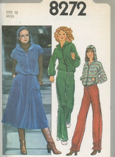 Simplicity 8272 Hooded Jacket, Pants and Skirt Vintage Sewing Pattern