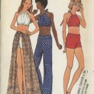 Butterick 6702 Vintage Short-Shorts, Pants, Wrap Skirt and Top Sewing Pattern