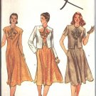 Vogue 7898 Vintage Sewing Pattern Dress with Jabot/Ruffled  Collar and Cropped Jacket