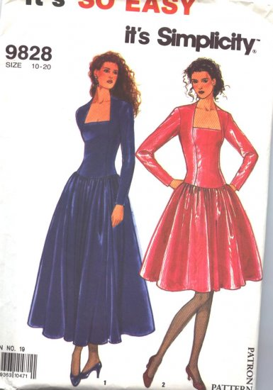Simplicity 9828 Special Occasion Dress Multi Size Pattern
