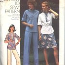 Simplicity 7249 Tunic, Skirt, and Pants Vintage 1970s Sewing Pattern