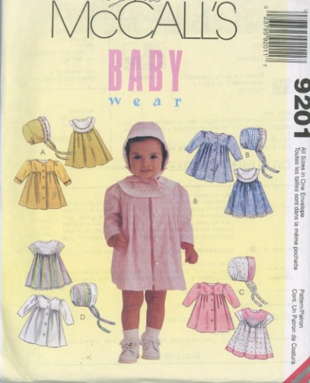 McCall's Baby Wear Dress, Coat, and Bonnet