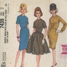 McCall's 7439 Vintage 1964 Rockabilly Flare Dress or Wiggle Dress Sewing Pattern