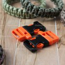 "2 ITW Nexus WhistleLoc 3/4"" Whistle Buckles - Orange for Paracord Bracelets"