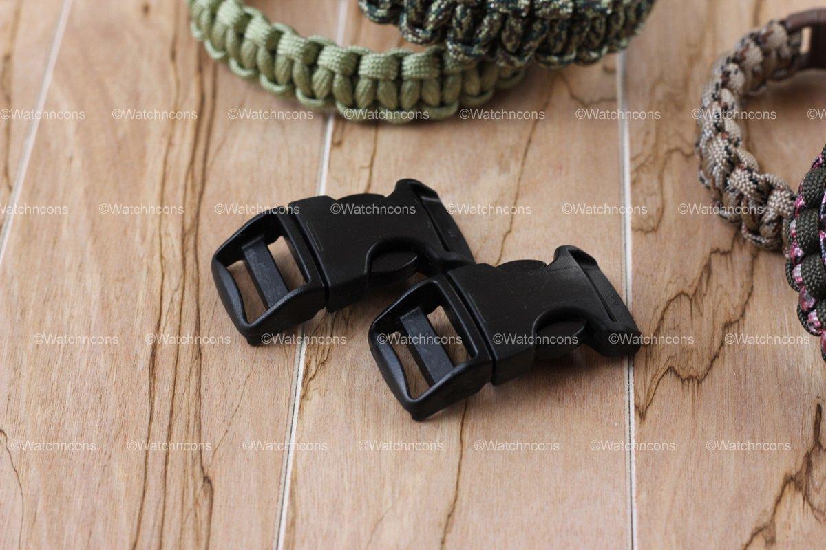 """2 ITW Nexus Contoured 3/4"""" Black SR Buckles for Paracord Bracelets"""