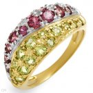 Brand New 1.8 CTW Peridot Gold Ring Size 7 Retails $570