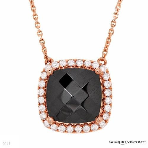GIORGIO VISCONTI 2.86 CTW Hematite 18K Gold Necklace