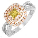 New CERTIFIED 1 CTW I1-I2 Color G-I Diamonds Gold Ring