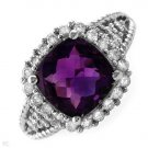 FPJ 3.75 CTW Amethyst Gold Ring Size 7 Retails $1,210