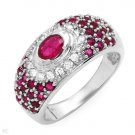 Brand New 1.9 CTW Ruby Gold Ring Size 7 Retails $1,090