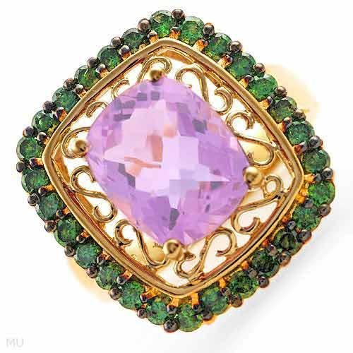 FPJ 4.8 CTW Amethyst Gold Ring Size 7 Retails $1,290