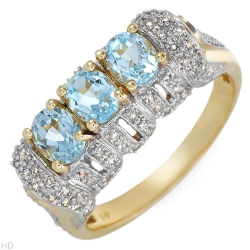 New FPJ 1.80 CTW Topaz Gold Ring Size 7 Retails $1,100