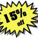 15% All Items Forever!