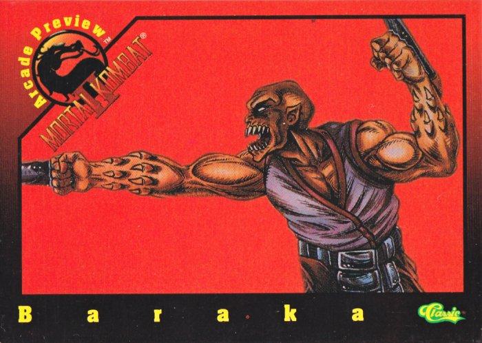 94 Mortal Kombat 2 Baraka Arcade Preview Card P5