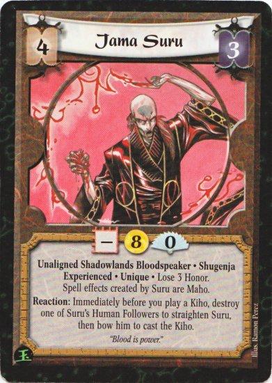 L5R SotE Jama Suru Exp Rare Unique Shadowlands