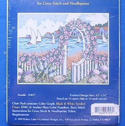 Seaside Needlepoint or Counted Cross Stitch Chart