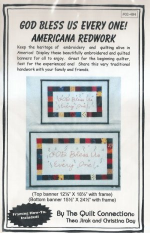 God Bless Us Every One Embroidery Quilt Pattern