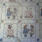 Bunnies Rabbits Country Kids Quilt Fabric OOP