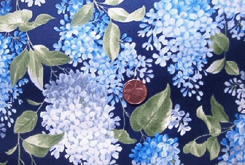 Blue Lilacs on Navy