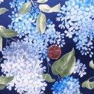 Blue Lilacs on Navy