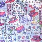 Red Hattitude Quilt Fabric